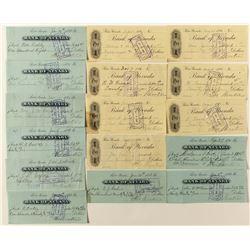 Theodore Winters Bank of Nevada checks (Reno)