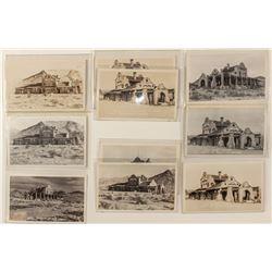 Rhyolite Train Depot Postcards