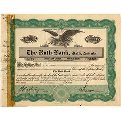 Ruth Bank Stock Certificate