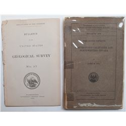 Two USGS Bulletins (incl. Comstock)