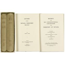 """""""Letters from Nevada Territory"""" (Two Volumes)"""
