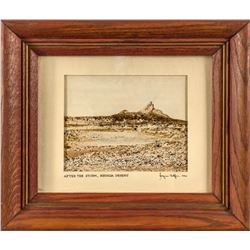 After the Storm, Nevada Desert miniature painting