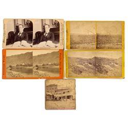 Miscellaneous Nevada Stereoviews (Palisade, Nevada Congressional Member, Etc.)