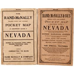Two Early Rand McNally Pocket Maps of Nevada (1899 and 1911)