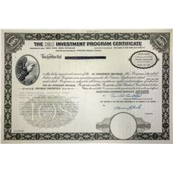 Investor Overseas Services (IOS) Program Certificate-Famous Scandal
