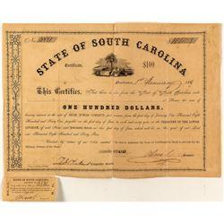 State of South Carolina Civil War Defense Bond