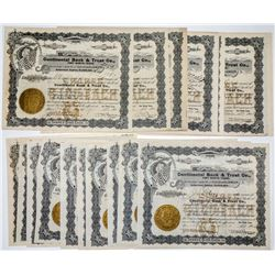 Continental Bank & Trust Co. Stock Certificates, Fort Worth, TX. 1904 (26)