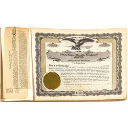 Blank Texas Stock Certificate Book