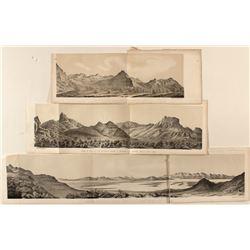Mountain Views around Great Salt Lake (Lithographs)