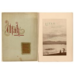 """""""Utah-A Peep into a Mountain Walled Treasury of the Gods"""" by P. Donan, 1891"""
