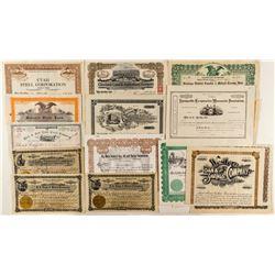 Utah Non-Mining Stock Certificates