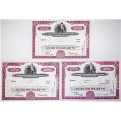 United States Banknote Corporation Stock Certificates (3)