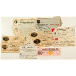 Washington Check Collection (Mining, Assay, & Others)  (41)