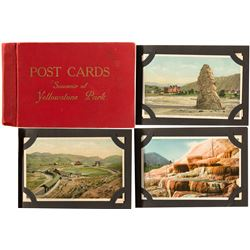 Postcard Souvenir Album of Yellowstone Park