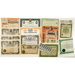 Group of US and German Stock Certificates & Bonds
