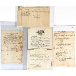 Early Eastern US Shipping Documents and Manifests Collection