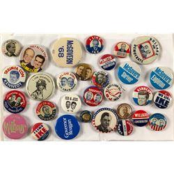 30 Political Buttons