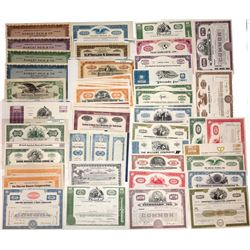 Mixed Lot of U.S. Stock and Bond Certificates (87)