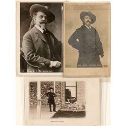 Buffalo Bill Postcard Trio