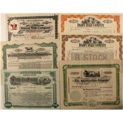 Milk Companies Stock Certificates