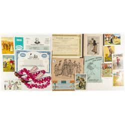 Golfing Ephemera (Postcards, Stocks, Illustrations)