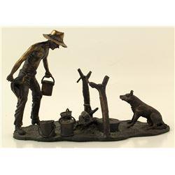 """""""Campfire"""" Bronze Sculpture"""