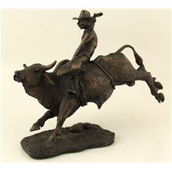 """""""Bucking Bronco"""" Bronze Sculpture by Eddie  Hackman"""