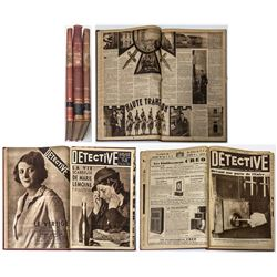 """""""Detective"""" Bound Volumes (French Newspaper)"""