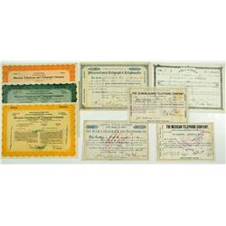 Mexico Telegraph & Telephone Stock Certificates Group