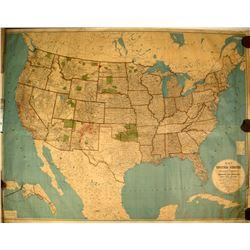 1893 United States Map