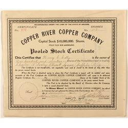 Copper River Copper Co. Stock Certificate