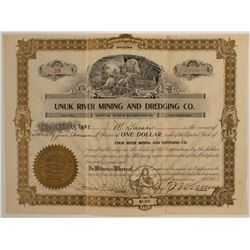 Unuk River Mining and Dredging Co. Stock Certificate