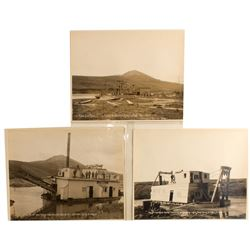 Three Alaska Dredge Mining Photographs