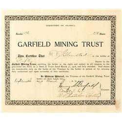 Garfield Mining Trust Territorial Stock Certificate