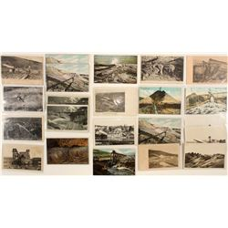Various Alaska Mining Postcards