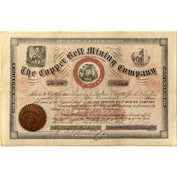 Copper Belt Mining Company Stock Certificate