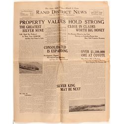 Rand District News, Randsburg, California w/ full page about mining