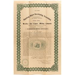 The Needles Eye Copper Mining Co. Co-Op Certificate