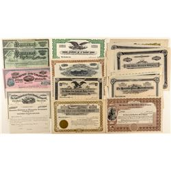 Unissued Colorado Mining Stock Collection