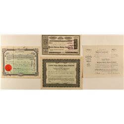 Four Montana Mining Stock Certificates 2