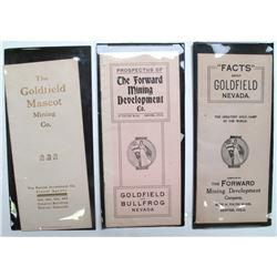 3 Goldfield/Bullfrog Mining Brochures