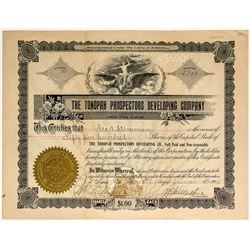 Rare Tonopah Prospectors Development Company Stock Certificate