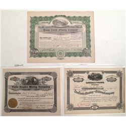 Three Tintic Area Mining Stock Certificates