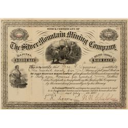 Silver Mountain Mining Company Stock Certificate