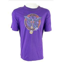 Ludlow (Josh Gad) Purple Atari Yar's Revenge T-Shirt from Pixels