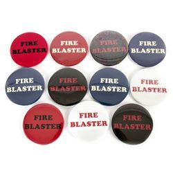 Collection of 11 Fire Blaster Buttons from Pixels