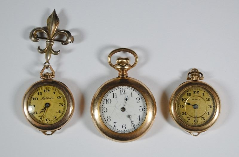 1c1eabb24 Image 1 : 3 VINTAGE LADIES POCKET WATCHES - HELBROS, PATRIA & ?
