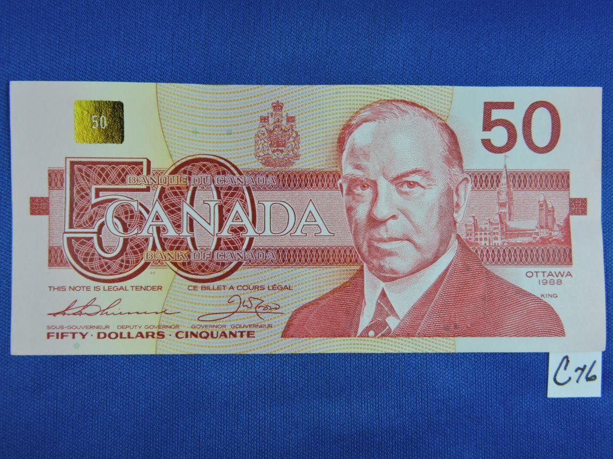 1988 Canada 50 Dollar Bills