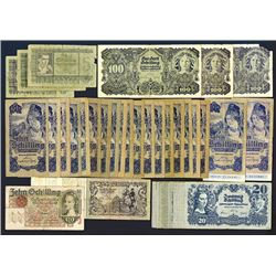 Oesterreichische Nationalbank. 1945-50 issues.