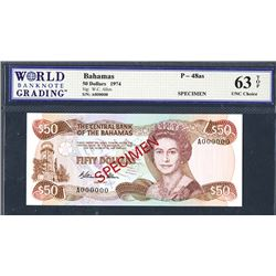 Central Bank of the Bahamas, 1984 ND Issue